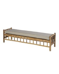 Bamboe loungebank - bamboo natural finish