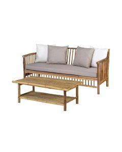 Bamboe loungeset 2-delig - natural finish