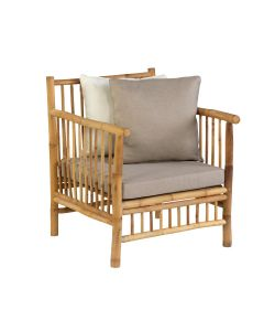 Bamboe loungestoel - bamboo natural finish