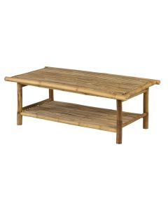 Bamboe loungetafel - bamboo natural finish