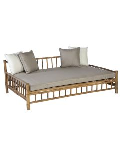 Bamboe lounge ligbed daybed - bamboo natural finish