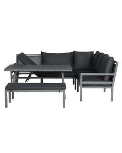 Brazil lounge dining set 4-delig - donker grijs