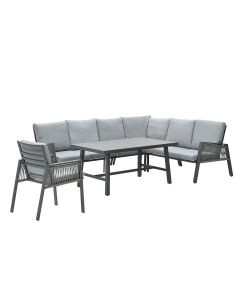 Brendon lounge dining set incl. stoel rechts - licht grijs