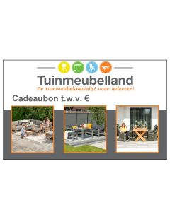 Waardebon 5 euro (of meer) l Cadeaubon Tuinmeubelland