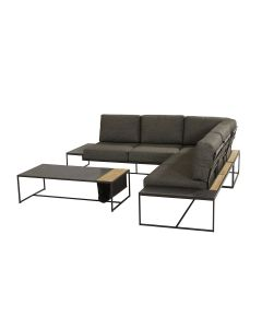 Patio loungeset 4-delig - antraciet