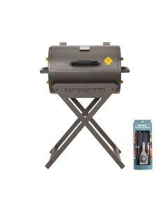 Boretti Fratello houtskoolbarbecue + gereedschapsset