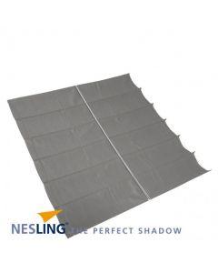 Nesling Harmonica schaduwdoek - breed 2-9m lang 3-0m - Antraciet Polyester