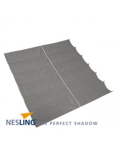 Nesling Harmonica schaduwdoek - breed 2-9m lang 4-0m - Antraciet Polyester