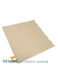 Nesling Harmonica schaduwdoek - breed 2-9m lang 4-0m - Gebroken Wit Polyester