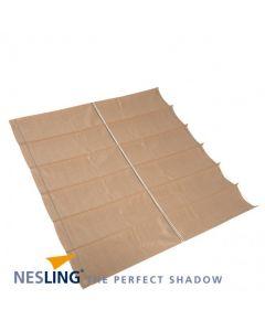Nesling Harmonica schaduwdoek - breed 2-9m lang 4-0m - Zand Polyester