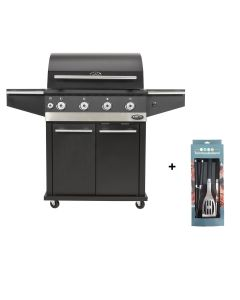 Boretti Ibrido houtskool- en gasbarbecue met gereedschapsset