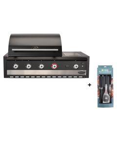 Boretti Ibrido top houtskool- en gasbarbecue met gereedschapsset