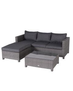 Isabel loungeset 3-delig - donker grijs