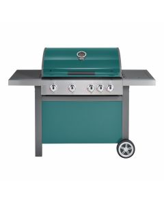 Jamie Oliver Home gasbarbecue 4 + 1 - mint groen