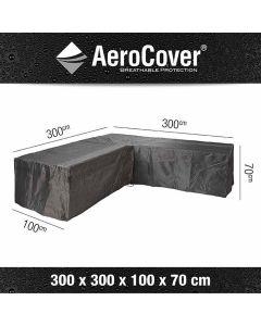 Platinum Aerocover loungesethoes L-vorm Trapeze 300x300x100xH70 cm antraciet