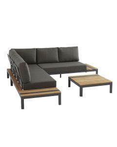 Meridien loungeset 4-delig - grijs
