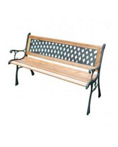 Lattice houten tuinbank 126x53x74 cm