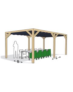 Nesling Pergola stand alone 290x500 antraciet - incl doek