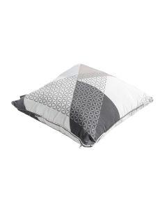 Sierkussen met paspel 50x50 Triangle grey