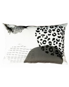 Sierkussen 50x30 Dots & stripes - Safari rounds - grey