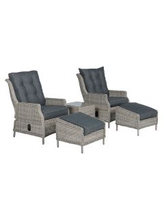 Santa rosa relax fauteuil incl. voetenbank + bijzettafel - vintage willow