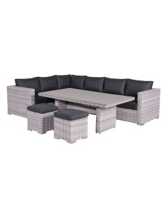 Tennessee lounge dining set 5-delig - licht grijs