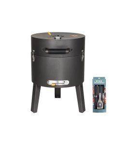 Boretti Tonello houtskoolbarbecue + gereedschapsset