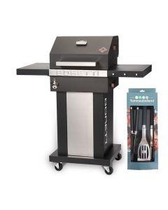 Boretti Totti houtskoolbarbecue met gratis gereedschapsset