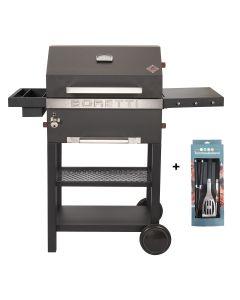 Boretti Vittoria houtskoolbarbecue met gereedschapsset